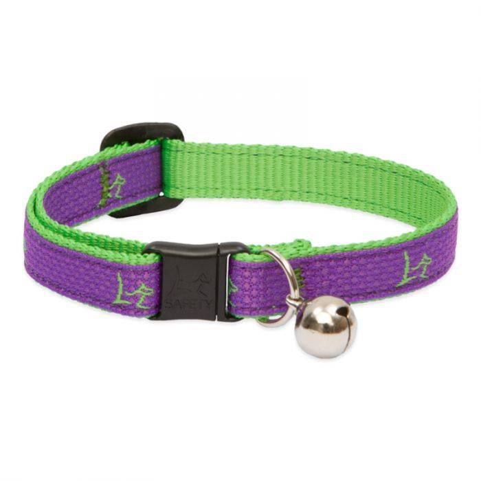 "Lupine Lupine Club - Hampton Purple - Cat Collar With Bell 8-12"""