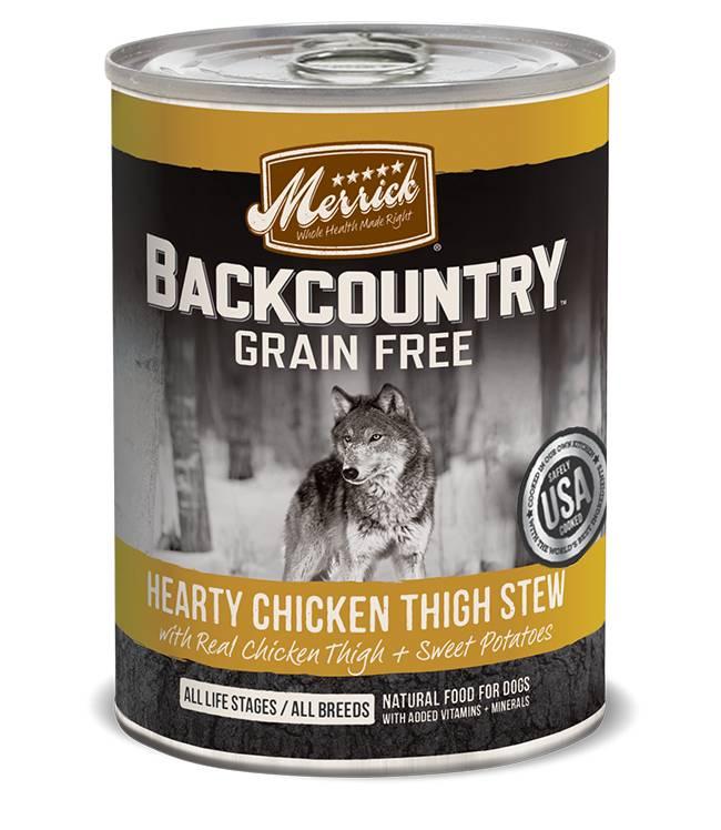 Merrick Merrick BackCountry Hearty Chicken Stew Dog Food, 12.7 oz can