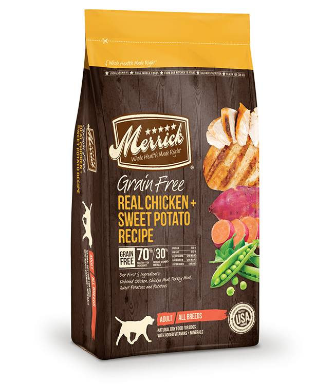 Merrick Merrick Grain Free Dry Dog Food, Chicken & Sweet Potato, 12# bag
