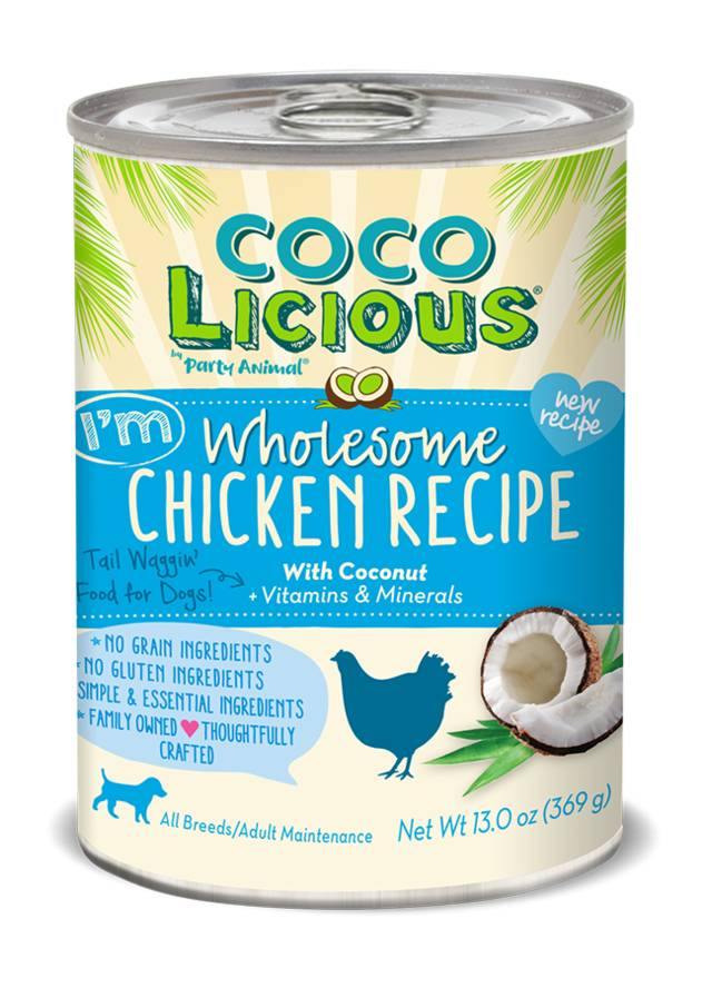Party Animal Party Animal Cocolicious Wholesome Chicken Grain-Free Canned Dog Food, 13 oz can