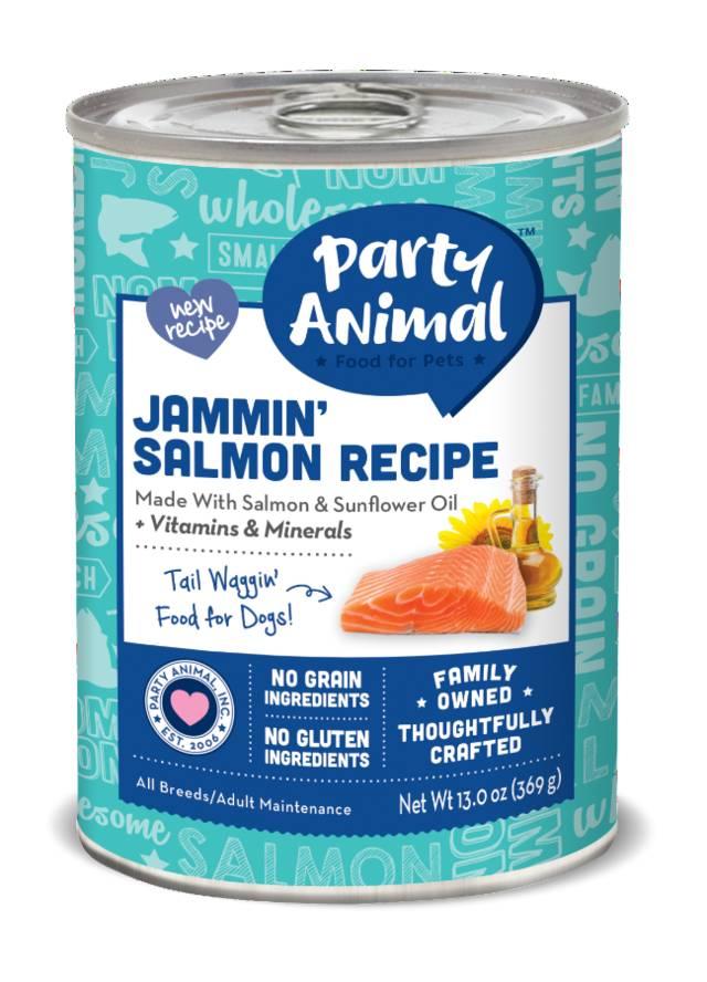 Party Animal Party Animal Jammin' Salmon Dog Food, 13 oz can