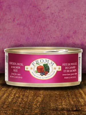 Fromm Fromm Chicken, Duck, and Salmon Pate Cat Can Food, 5.5 oz can