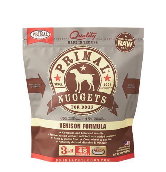 Primal Primal Frozen Dog Food, Venison, 3 lb bag