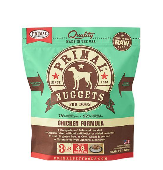 Primal Primal Frozen Dog Food, Chicken, 3 lb bag