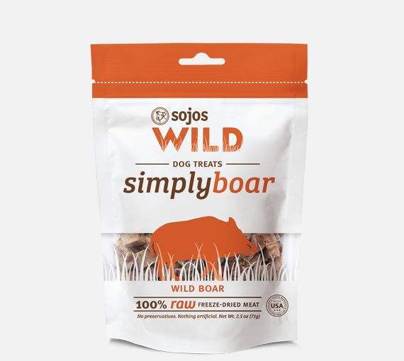 Sojos Sojos Simply Wild Boar Freeze-Dried Dog Treats, 2.5 oz bag
