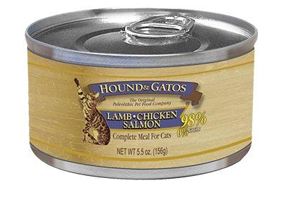 Hound & Gatos Hound & Gatos Feline Lamb, Chicken and Salmon, 5.5 oz can