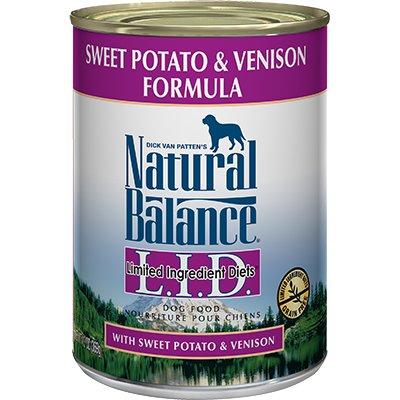Natural Balance Natural Balance Venison & Sweet Potato Limited Ingredient Diet Dog Food, 13 oz can