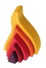 Grimms Fire Wooden Stacking Toy by Grimms