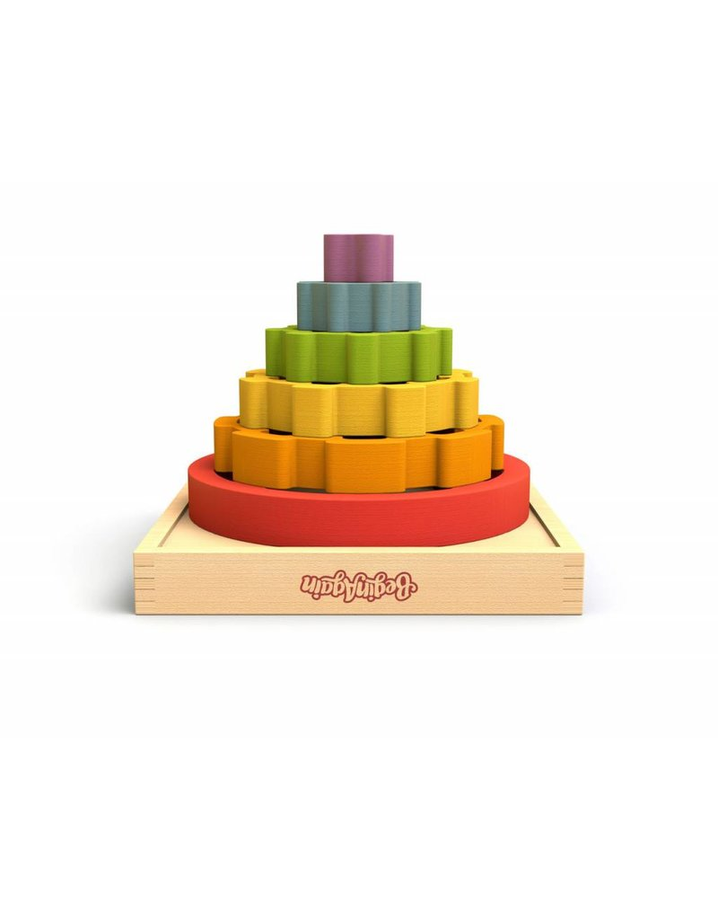 Begin Again Wooden Gear Stacker by Begin Again 2+