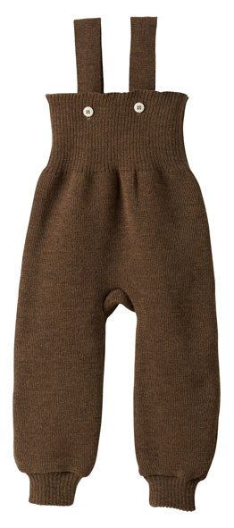 Disana Knitted Wool Trousers with Overall Straps by Disana