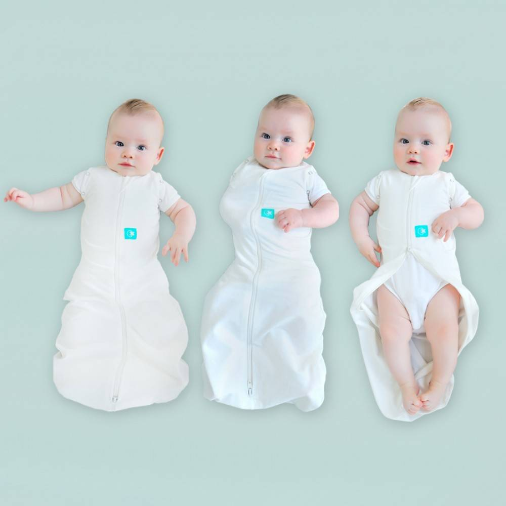 ErgoCocoon Organic Cotton ErgoCocoon 2 in 1 Zip Up Swadlle and Sleep Sack ( 0.2 Tog)