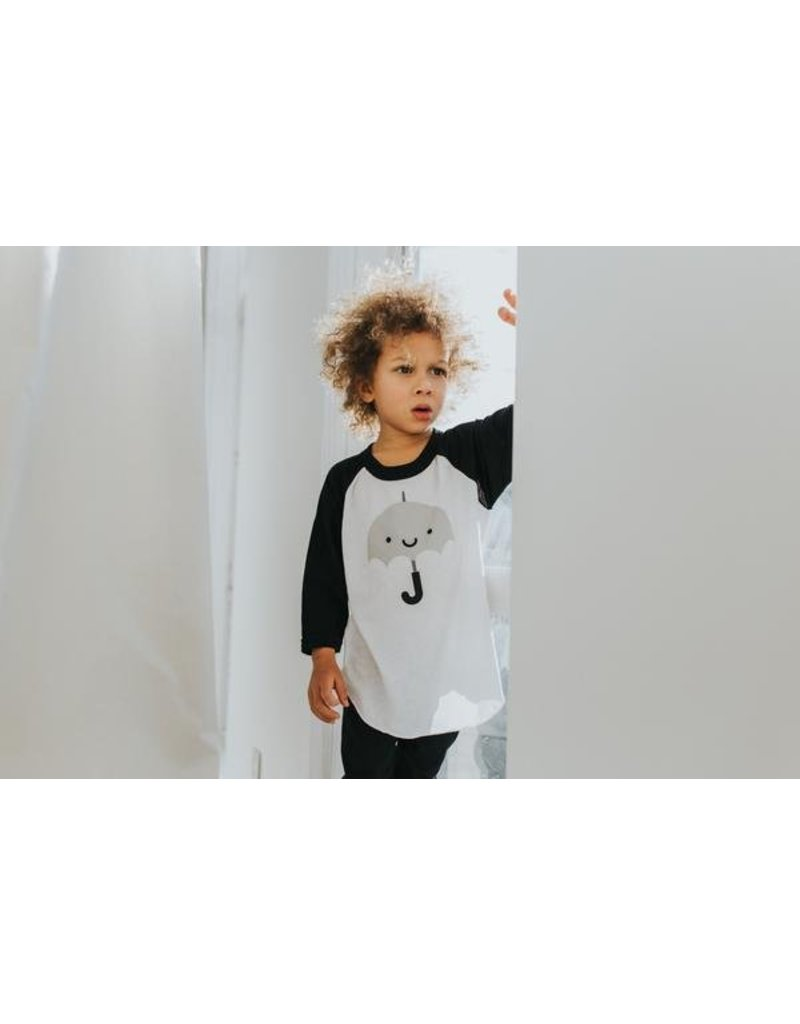 Whistle & Flute Kawaii Umbrella Baseball Raglan Shirt by Whistle & Flute