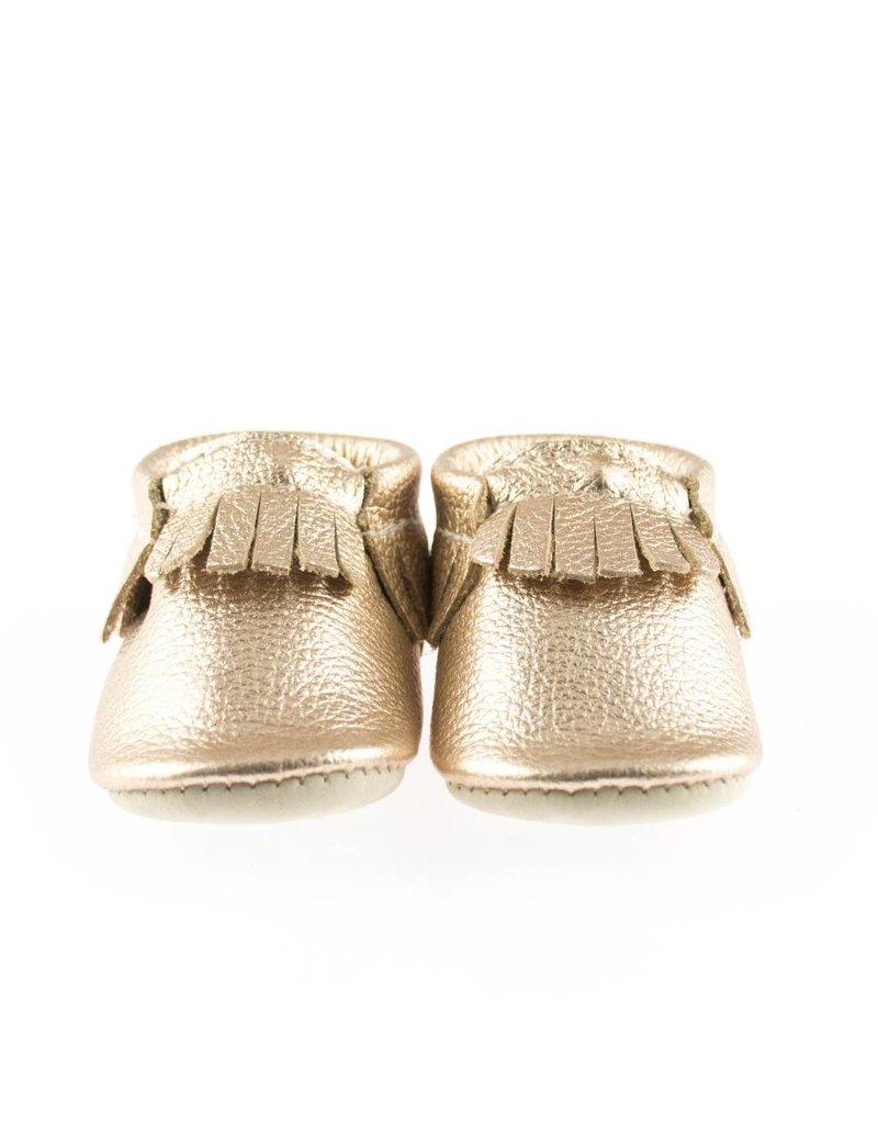 Minimoc Minimocs Leather Soft Sole Shoes (Metallics etc with Fringe)