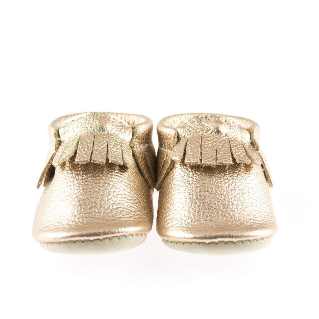 Minimoc Minimocs Leather Soft Sole Shoes (Metallics etc with Fringe)