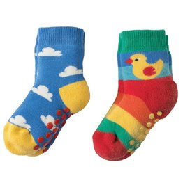 Frugi Grippy Socks 2-Pack Organic Cotton by Frugi