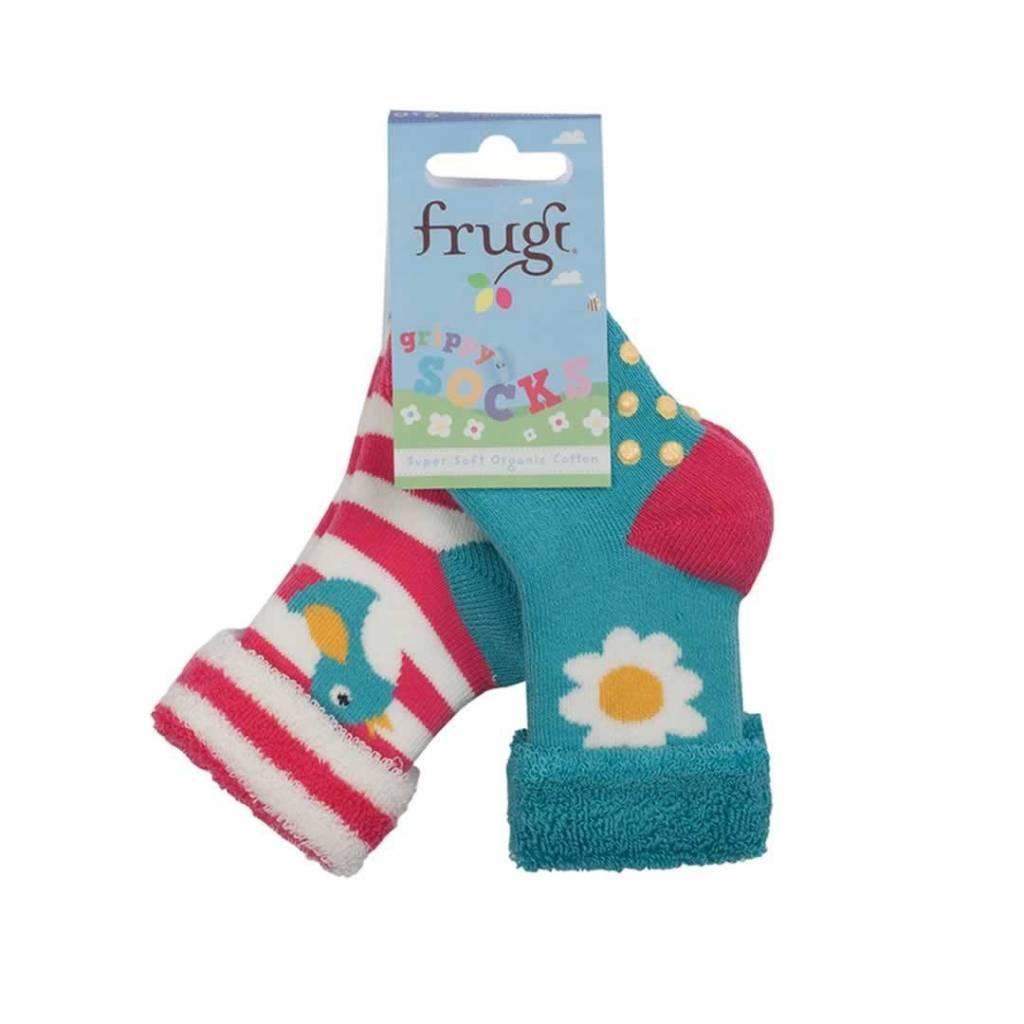 Frugi Grippy Socks 2-Pack Organic Cotton by Frugi