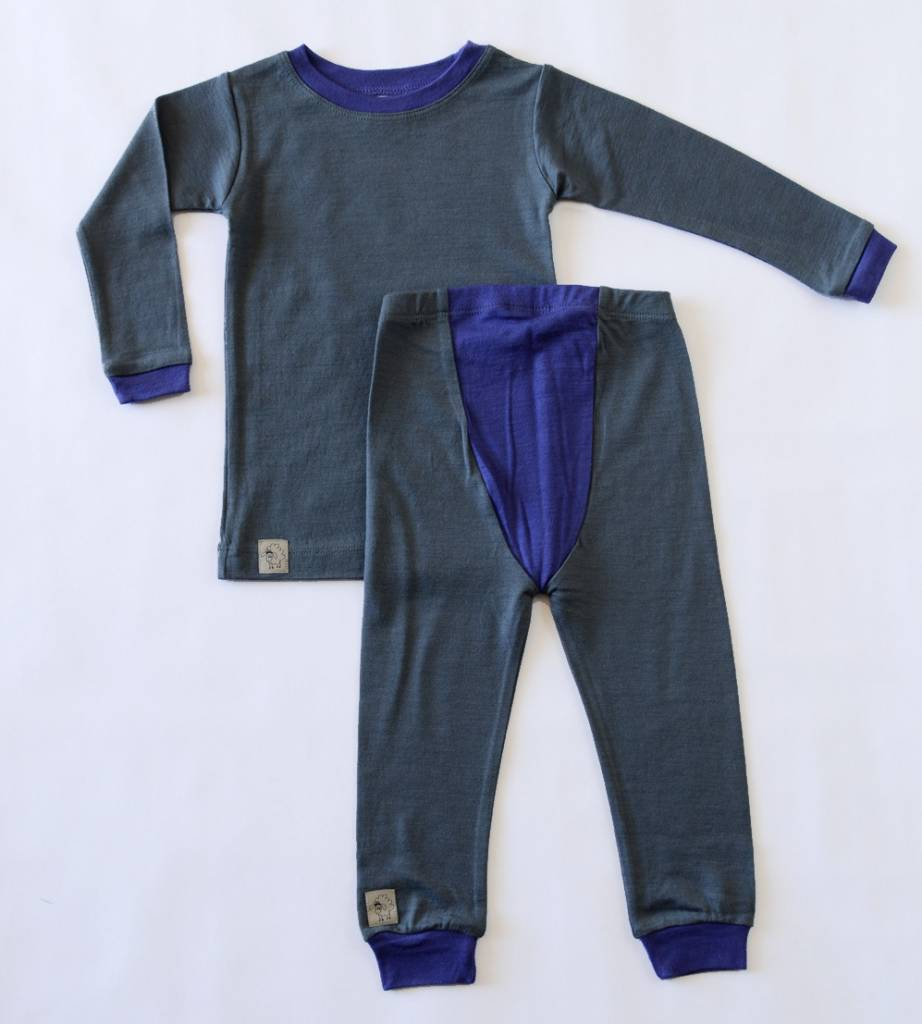 Wee Woollies Merino Wool 2-Piece PJ Set by Wee Woollies