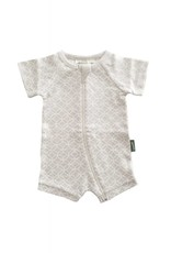 Parade Organic Cotton Shortie Zipper Romper by Parade Baby