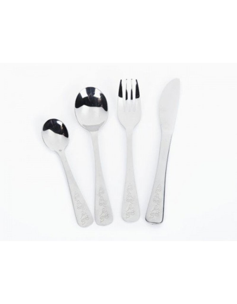 Onyx Stainless Steel Children's Cutlery Set  with Duckies Engraving by Onyx