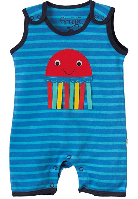 Frugi Organic Cotton Short Dungarees by Frugi