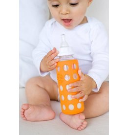 LifeFactory Glass Baby Bottle with Protective Silicone Sleeve by Lifefactory