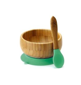 Avalanchy Bamboo Baby Suction Dishes & Spoon Sets