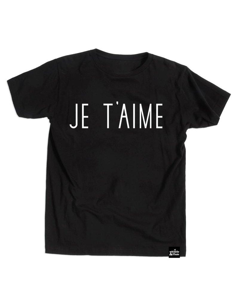 Whistle & Flute Je T'aime Black T-Shirt by Whistle & Flute
