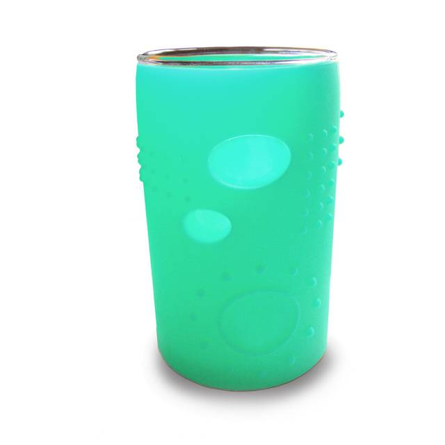 Silikids Glass with Silicone Sleeve Cups 2-Pack in Sea Blue