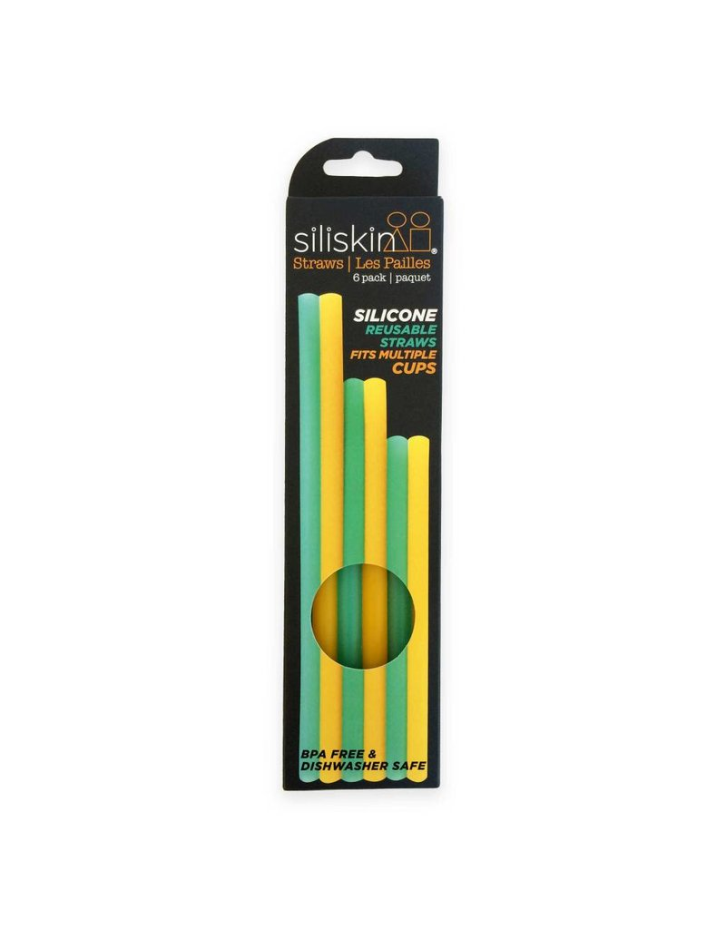 Silikids Reusable Silicone Straw Pack