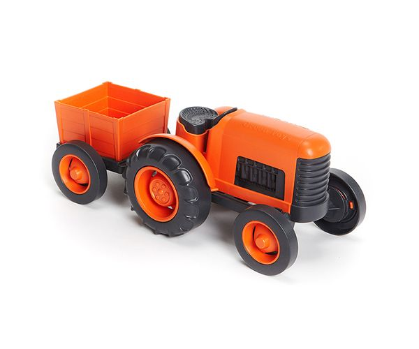 Green Toys Tractor with detachable Trailer (Made from 100% Recycled Milk Jugs) by Green Toys