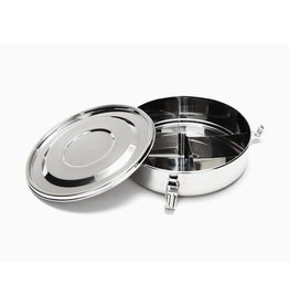 Onyx Divided Airtight Stainless Steel Round Container