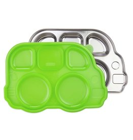 Innobaby Stainless Steel Bus Shaped Divided Platter with Lid