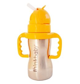 ThinkBaby Stainless Steel Straw Cup with Handles by ThinkBaby