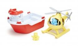 Green Toys Rescue Boat and Helicopter by Green Toys