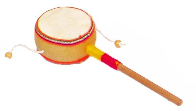 Jamtown Spinner Drum (Monkey Drum) Musical Toy