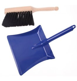 Goki Hand Broom & Metal Dust Pan Set