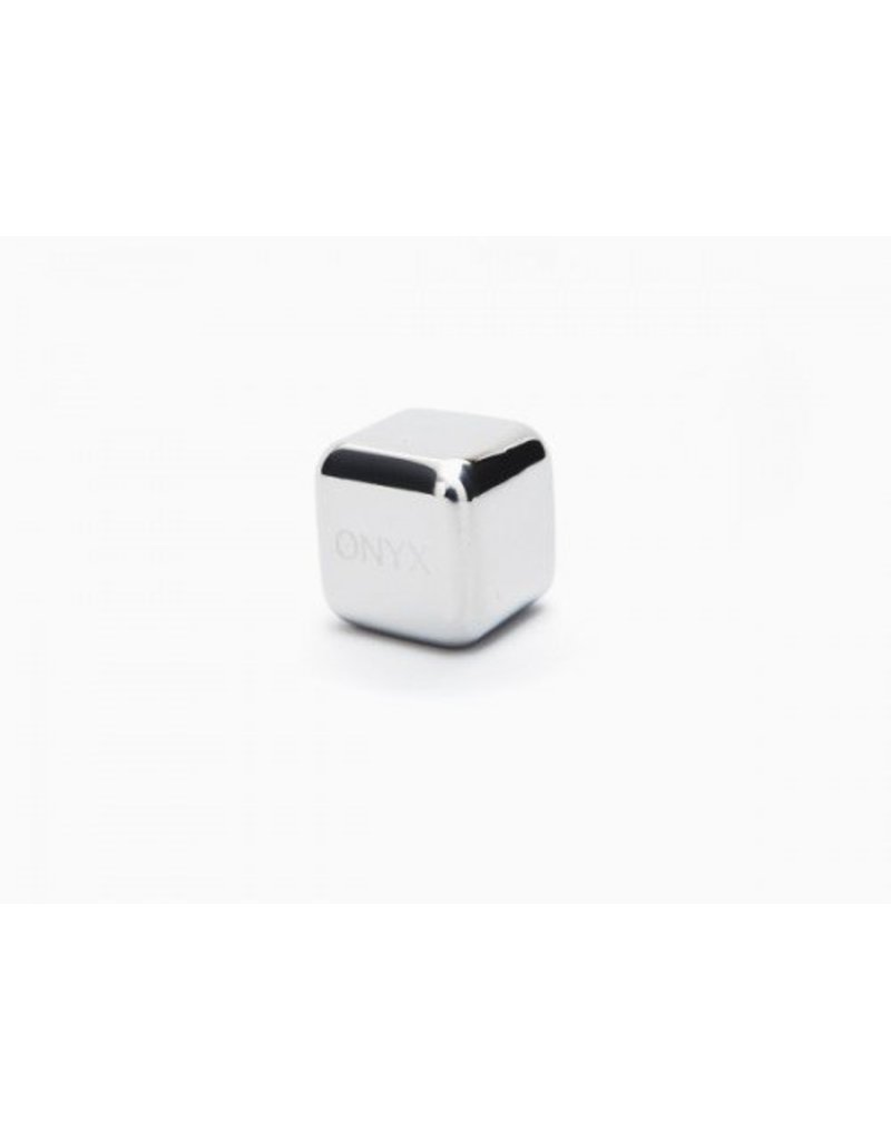 Onyx Stainless Steel Ice Cube