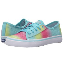 Keds Big Kid Lace Up Sneakers in Sugar Dip Double Up Turquoise Glitter Fade by Keds