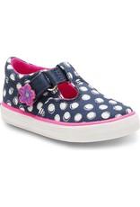 Keds Daphne Dot Style T-Strap Navy Shoe by Keds