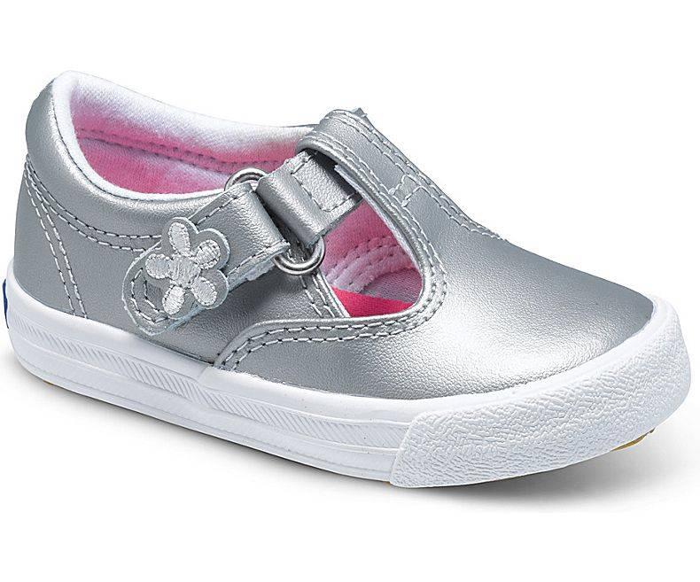 Keds Daphne Style T-Strap Silver Shoe by Keds