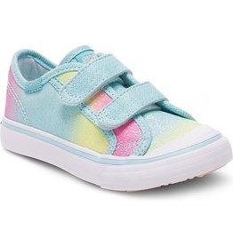 Keds Little Kid Glittery Turquoise Sugar Dip Hook & Loop Sneakers by Keds