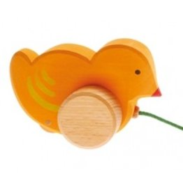 Grimms Wooden Pull Along Chick by Grimms