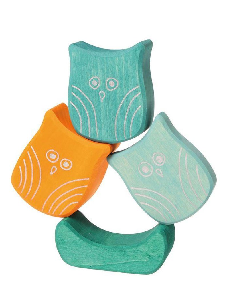 Grimms Stacking Owls Wooden Toy by Grimms
