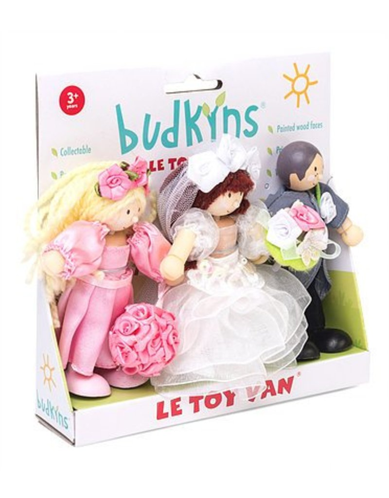 Le Toy Van 3-Pack Bendy Wooden Characters by Budkins