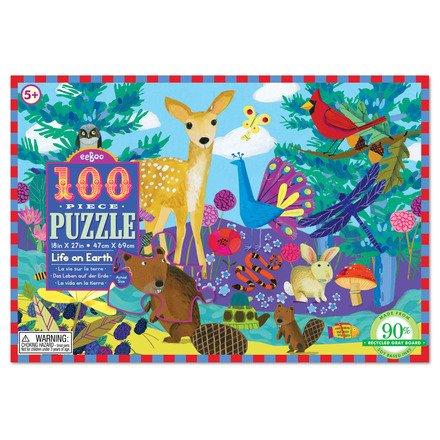 Eeboo Life on Earth 100-Piece Puzzle by Eeboo