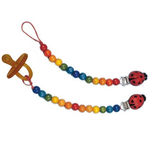 Gluckskafer Rainbow Pacifier Chain with Clip by Gluckskafer