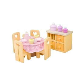 Le Toy Van Sugar Plum Dining Room Set Dollhouse Furniture Set by Le Toy Van
