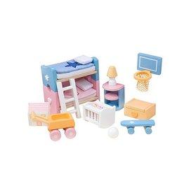 Le Toy Van Sugar Plum Children's Bedroom Dollhouse Furniture by Le Toy Van