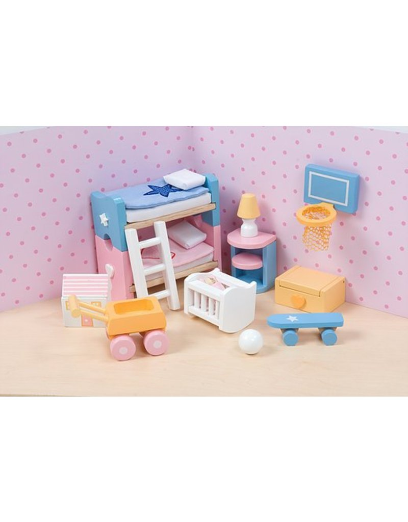 Sugar Plum Childrens Bedroom Dollhouse Furniture By Le