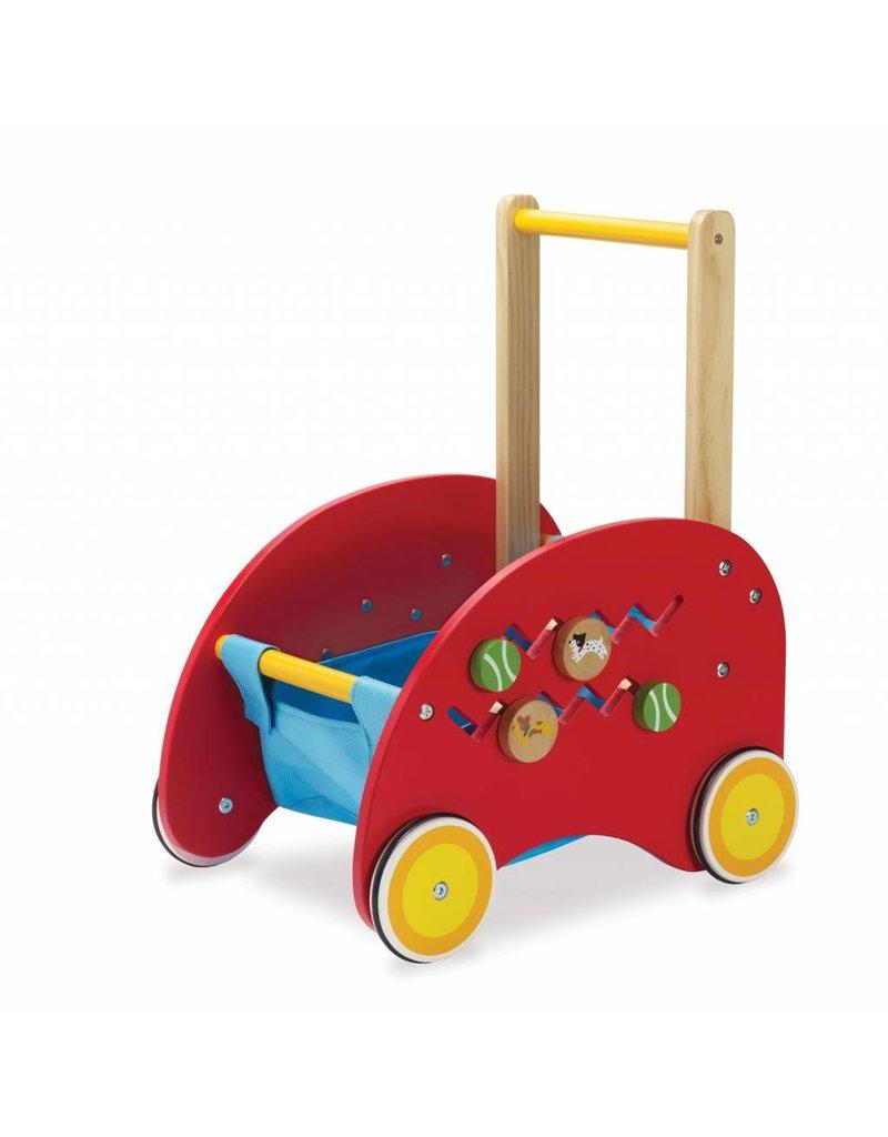 Manhatton Toy Wooden Activity Push Cart by Manhatton Toy